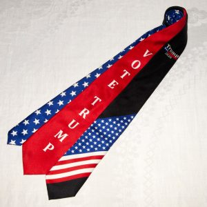 VOTE TRUMP BLACK FLAG TIE
